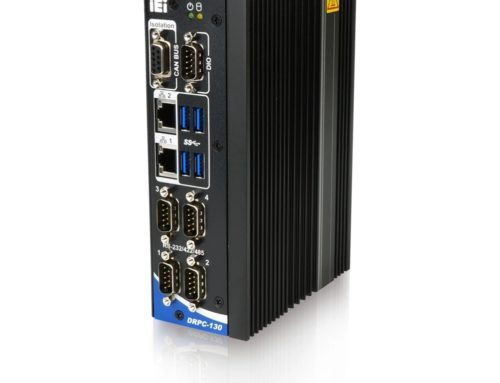 Fanless PC for DIN-mounting.